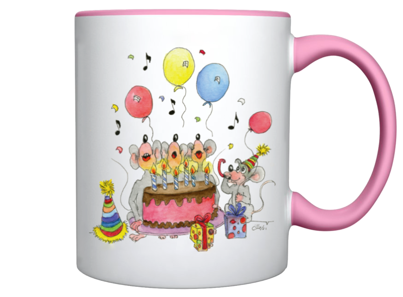 three_Mice_singing_Birthday_Cake_Coffee_Cup_Sample_J-INK